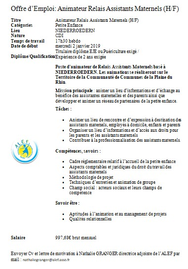 Offre D Emploi Mothern